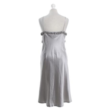 Laur猫l Silbern Schmuckstein Besatz Kleid mit Laur猫l Kleid TWnw5qx1