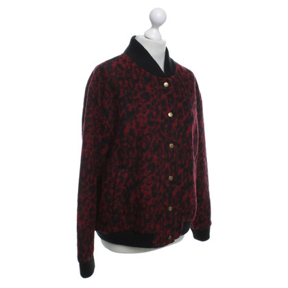 Ganni Bomber jacket with leopard print