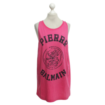 Pierre Balmain Tank top in roze / zwart