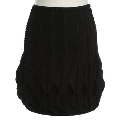 Alaïa skirt 'Origami' in black
