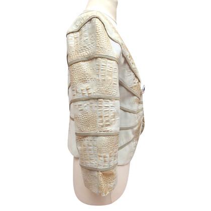 Giorgio Armani Giacca in pelle con goffratura coccodrillo
