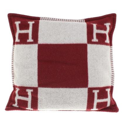 Hermès Kissen in Rot/Grau