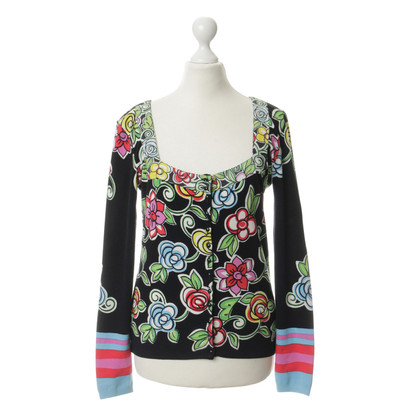 Blumarine Cardigan mit floralem Motiv