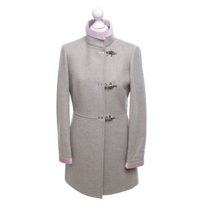 Fay Coat with pink piping