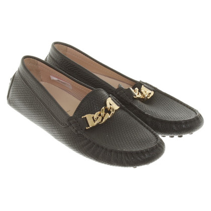 Aigner Slipper textured leather