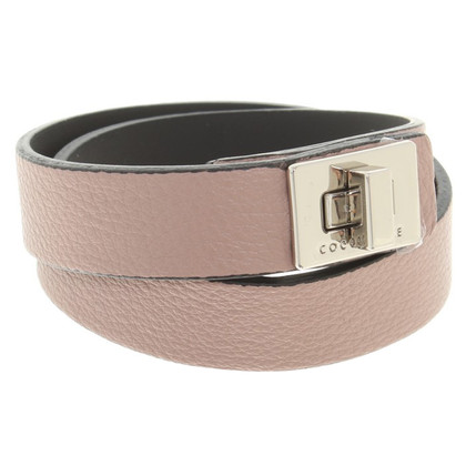 Coccinelle Leather bracelet in beige
