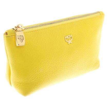 MCM Cosmetic bag in yellow