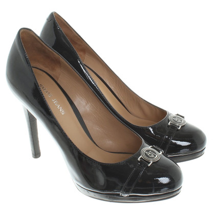 Armani Collezioni pumps made of lacquered leather
