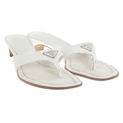 Prada Toe sandals in white