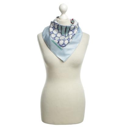 Hermès Seidentuch in Blautönen