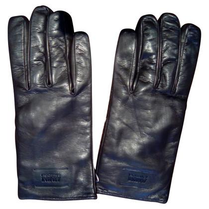 Armani leren handschoenen