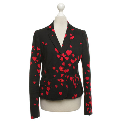 Moschino Cheap and Chic Blazer mit Herzmuster