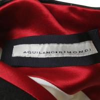 Aquilano Rimondi Schede jurk met mouwen van bladerdeeg