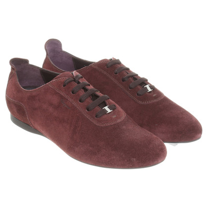 Salvatore Ferragamo Wildledersneaker in Bordeaux