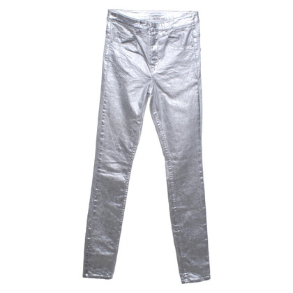 Isabel Marant trousers with silver-colored coating