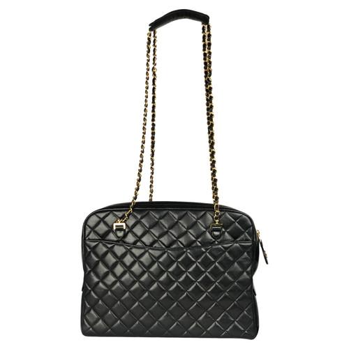 9b814b78369 Chanel Shoulder bag Leather in Black - Second Hand Chanel Shoulder ...