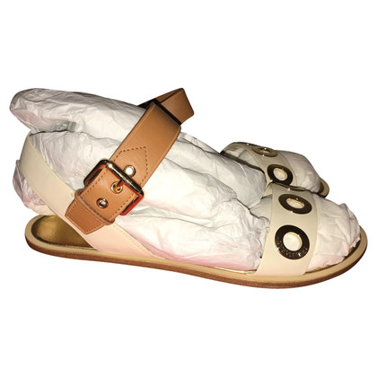 Louis Vuitton Sandals beige with gold
