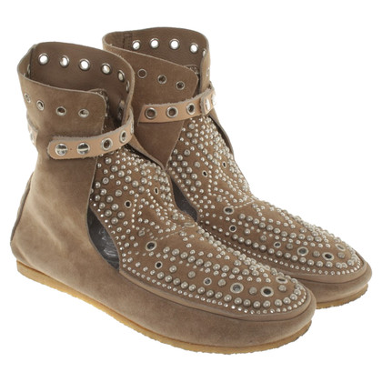 Isabel Marant Suede ankle boots with rivets