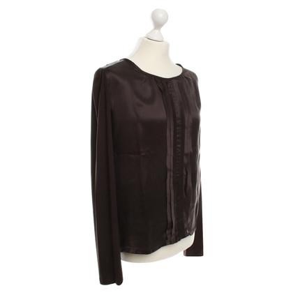Max Mara Shirt from silk in brown