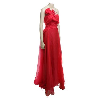 Talbot Runhof Chiffon jurk in rood