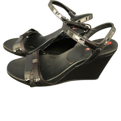 Prada Sandals, plateau, black