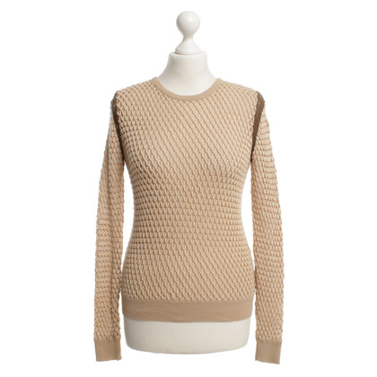 Carven Grobstrick-Pullover in Beige