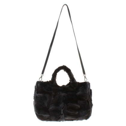 Tod's Fur / leather handbag