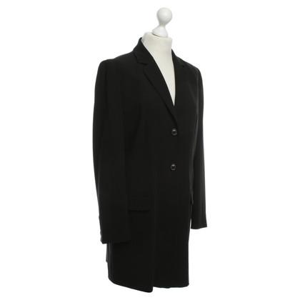 René Lezard Long Blazer in black