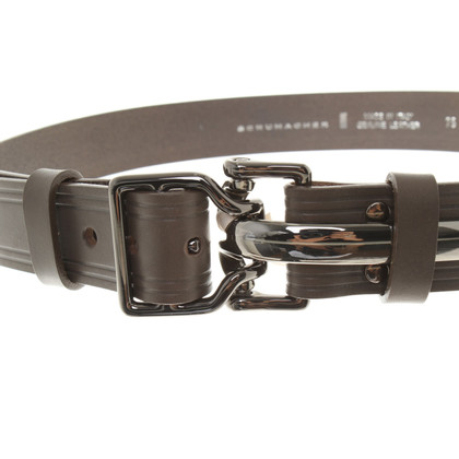 Schumacher Leather belt with metal buckle
