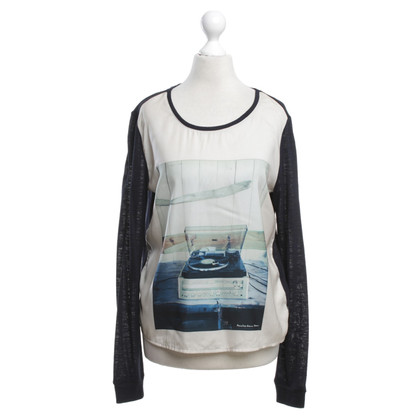 Maison Scotch top with motif print