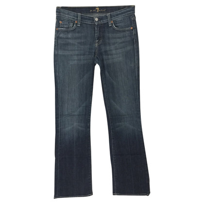 7 For All Mankind Bootcut-Jeans mit Strassapplikation