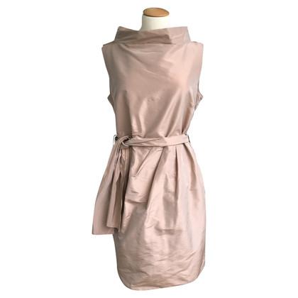 Pauw zijden jurk