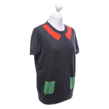 Paul Smith Kurzarm-Pullover in Tricolor