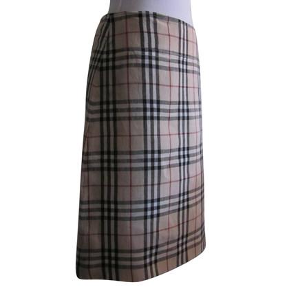 Burberry Linen skirt Nova Check.