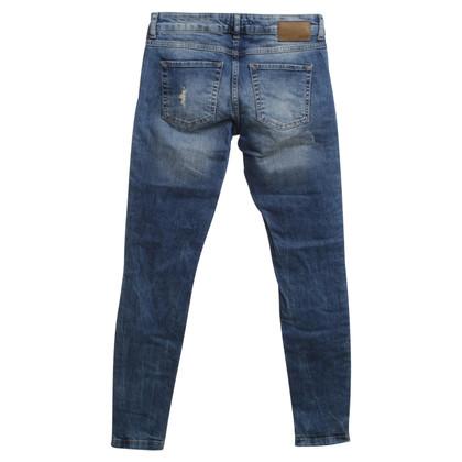 Set Jeans in vernietigde blik