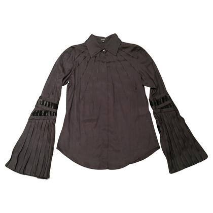 Gucci Start-en landingsbaan zijden blouse