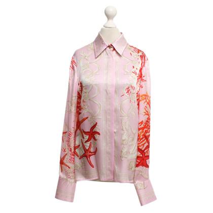 Versace camicetta di seta con motivo