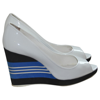 Prada Patent leather Pumps with wedge heel