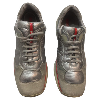 Prada Lace-up shoes in silver
