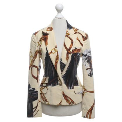 D&G giacca di velluto con motivo cavallo