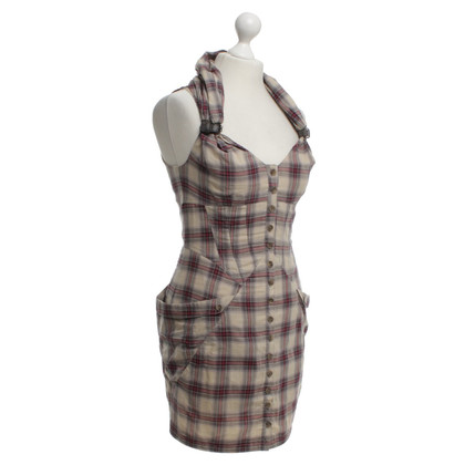 All Saints Jurk met plaid patroon