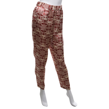 Hoss Intropia Silk trousers with print