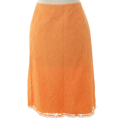 Philosophy di Alberta Ferretti skirt in Orange lace
