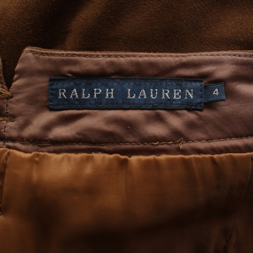 cheapest sale classic shoes differently Ralph Lauren Leather pants in brown - Second Hand Ralph ...