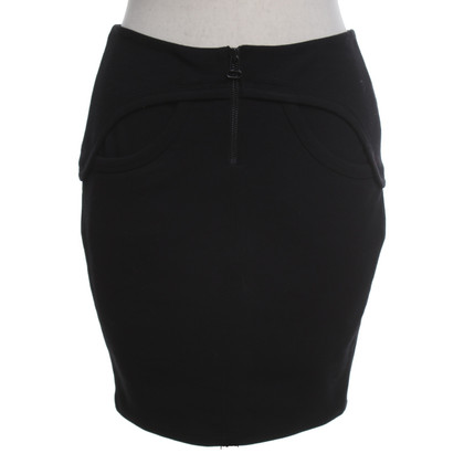 T by Alexander Wang Minirok in zwart
