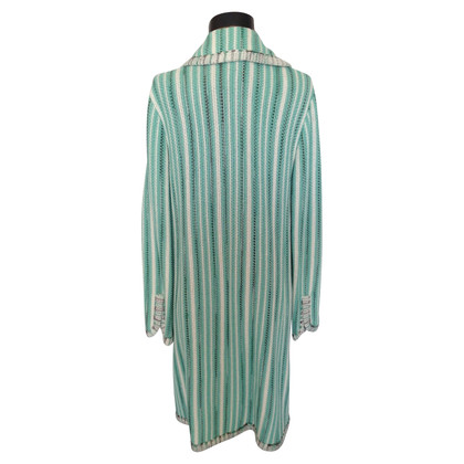 Missoni by Target Pastel green striped crochet coat