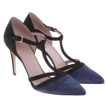 Gucci pumps in blu / nero