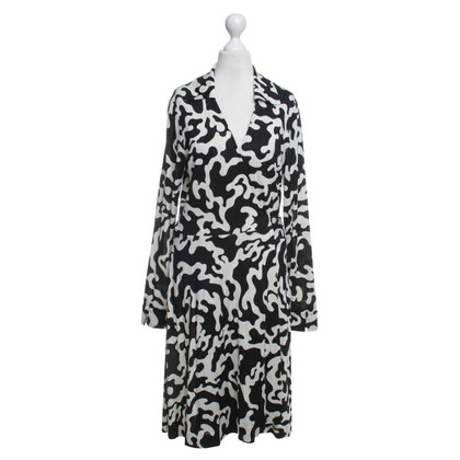 Diane von Furstenberg Wrap dress with animal print