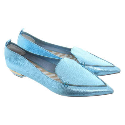 Nicholas Kirkwood Slipper in Metallic Blue