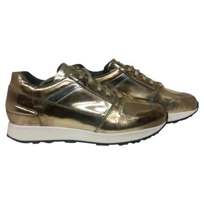Santoni Sneakers in pelle verniciata